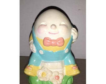 Vintage Humpty Dumpty Bank,Avon Humpty Dumpty,Nursery Rhymes,Nursery Decor,Humpty Dumpty,Collectibles,Kitschy Cute,Childrens Bank,Avon,1980s