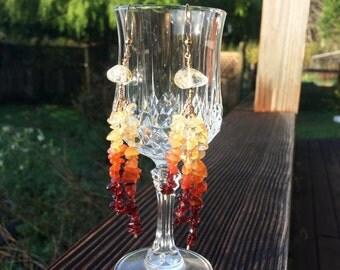 14k Gold Filled Jellyfish Gemstone Earrings