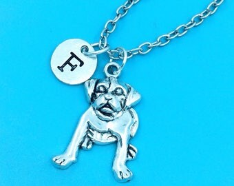 Pet dog necklace, dog charm necklace, personalized necklace, custom charm pendant, initial necklace, dog pendant necklace, pet dog jewelry