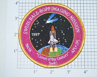 """Mint 4"""" 1997 STS-85 Space Shuttle Discovery Hale-Bopp Comet of the Century Mission Patch NASA Embroidered Iron-on Patch Collectible s5"""