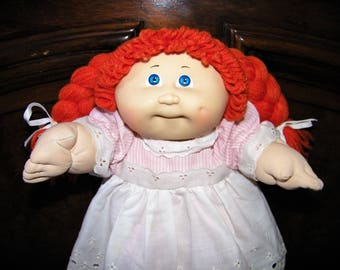 Vintage Cabbage Patch Kid Doll ~ #3 HM/Red Braids/Blue Eyes