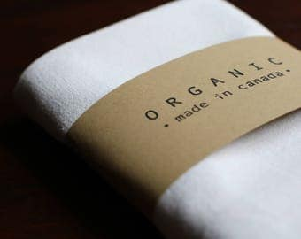 100% Organic Cotton Kitchen Towel -  Untreated & All Natural