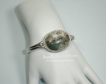 Ocean Jasper Sterling Silver Bracelet