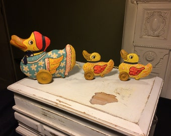 A Duck and her Ducklings Folk Art by Bethany Lowe Designs