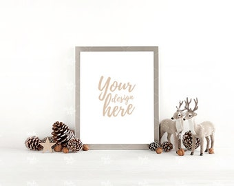 8x10 frame mockup / Styled stock photography / Instant download / Christmas / Holiday season / #8895