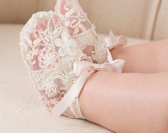 Jessica Lace Booties, Baby Booties