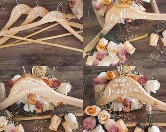 Wedding Hanger Stickers - Bridal Party Hanger decals - Wedding Stickers