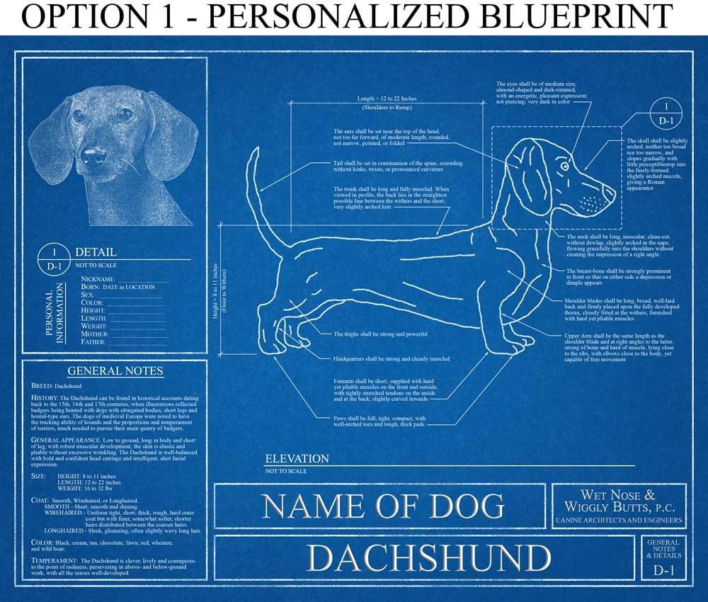 Entrancing 50 blueprint wall art inspiration of blueprint wall art blueprint wall art personalized dachshund blueprint dachshund art dachshund malvernweather Gallery