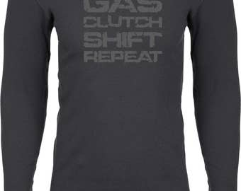 Men's Grey Gas Clutch Shift Repeat Thermal Shirt GCSR-N8201