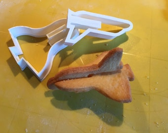 Cookie Cutters Space Ship Set - 3D Cookies - 2 Piece Set - 3D Printed - Clay Cutter - Fondant Cutter - Christmas Gift