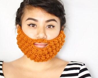 Crochet Beard Face Warmer