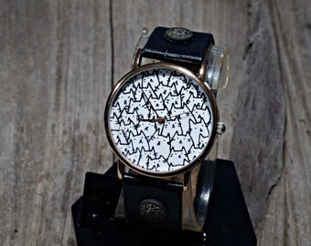 Cute Cat Watch Leather,Ladies Watch,Cat Watch,Unisex Watch,Wristwatch,Women Watches,Unisex Watch,Watch,Gift For Women,Bithday Gift