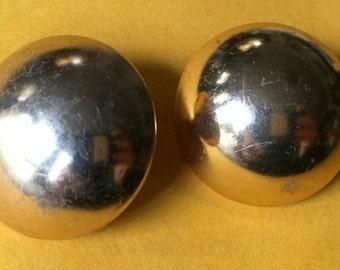 Gold Ball Post,Gold Circle Stud,Huge Gold Stud,Round Gold Stud,Gold Ball Stud,Gold Round Post,Huge Gold Earring,Giant Gold Earring,Gold Stud
