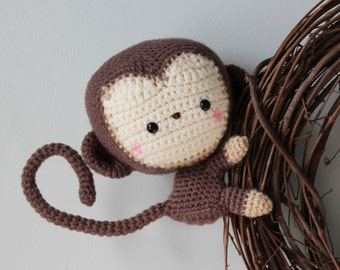 Crochet Stuffed Monkey // Amigurumi Monkey