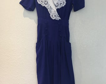 Blue Karin Stevens petites dress