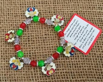 1 God S Greatest Gift Beaded Charm Bracelet Kids Christmas Craft