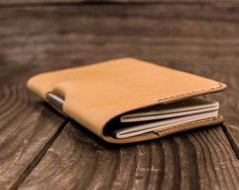 Leather Journal Cover, Field Notes Cover, Moleskine Cover, Pocket Notebook, Handcrafted, EDC