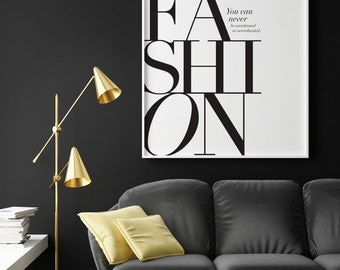 Fashion Print, Fashion Quote Print, Fashion Poster, Bedroom Art, Oscar Wilde Quote Print, Bedroom Wall Art, Typography Poster