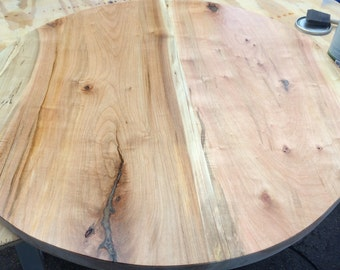 SOLD** Reclaimed Matching Round Live Edge Coffee Table Order for Waterclub Luxury Living