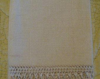 Lovely Linen Pull Work Hand Towel