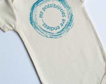 my possibilities are endless, Organic Baby Outfit, Cute Baby Onesie, Organic Baby Clothing, Unisex Baby Clothes, Unisex Baby Gift, Cute Baby