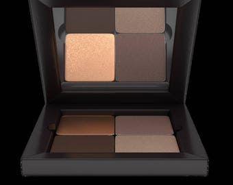 Mineral Pressed Eye Shadow Makeup Quad Palette