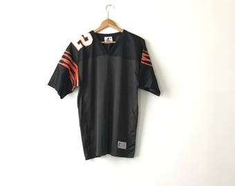 BLANK BENGALS JERSEY // Medium // 90ss // Jersey Top // Football Jersey // Plain Jersey // Cincinnati Bengals // Plain Jersey // Football