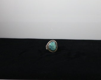 P.Sanchez Navajo Sterling and Turquoise Ring