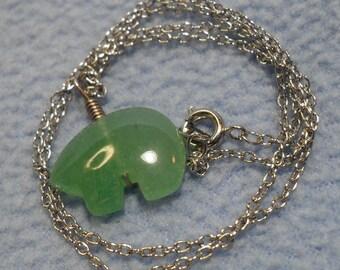 Pretty Jade Animal Figure Necklace~Enchanting!