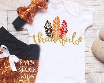 Baby Girl Thanksgiving Outfit, Baby Girl Clothes, My First Thanksgiving, Thanksgiving Onesie, Thanksgiving Outfit, Turkey Day Outfit,