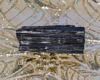 Black Tourmaline Crystal Wand Protection Stone w/ Reiki