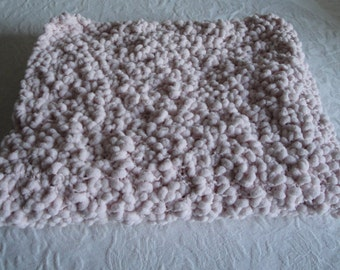 baby girl blanket, new baby gift, pink cot blanket, baby shower, bubble-knit blanket, cot or pram cover, baby car blanket, baby wrap shawl