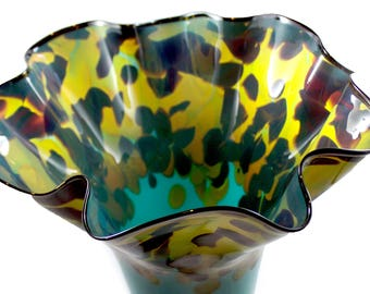 Abstract Hand Blown Vase