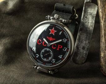 Great watch, Komandirski , watch Molnija,  soviet watch Men's, watch USSR Working Molnia, Soviet military, gift for him