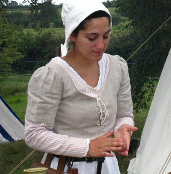 medieval linen coif for women or girls medieval headdress. Black Bedroom Furniture Sets. Home Design Ideas