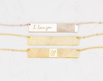 30% OFF - FingerPrint Jewelry - Custom FingerPrint Necklace - Memorial FingerPrint - Loss of Loved One Gift - Memorial Christmas Gift