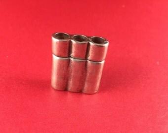 4/6 MADE in EUROPE zamak clasp, triple zamak clasp, triple strand bracelet magnetic clasp (6794/3)