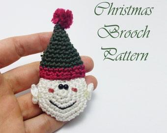 Christmas brooch pattern,Elf brooch pattern,Christmas pattern,Christmas decor,Elf brooch,Elf crochet pattern,Christmas gifts,VekiCrochetLand