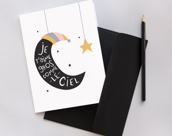 Love You To The Moon And Back - Greetings Card