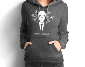 "Doctor Who Inspired ""Silence Will Fall"" Women's Hoodie"