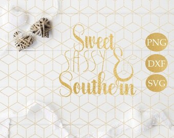 Sweet Sassy And Southern SVG - Southern Bell SVG Cutting file