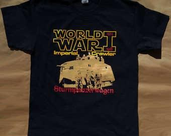 World War I Imperial Crawler / Star Wars art / Star Wars tshirt / black 100% cotton Gildan short sleeve graphic tee
