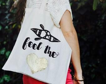 Canoe Feel the Love Tote Bag