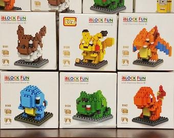 Pokemon Go Nanoblocks Microblocks Construction Sets Pikachu Eevee Squirtle Bulbasaur Charmander Charazard