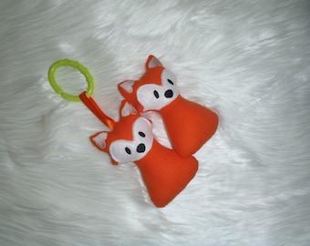 Baby rattle - fox