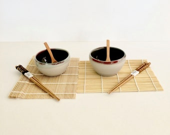 Set of two stoneware handmade bowls, Melbourne, Earth and Clays