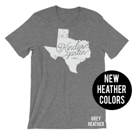 K-6 Texas Teacher Tshirt|  Heather Y'all Kindergarten First Second Third Grade | Super-Soft  | Elementary | School Spirit Shirt | Pre K