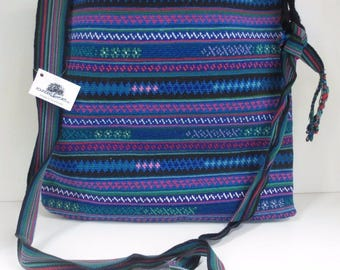 Founders Imports Fair Trade Hand Woven Guatemalan Embroidered Tote Bag