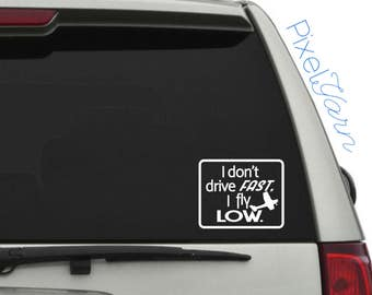 "Fly Low 6"" decal"