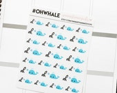Oh Whale Kawaii ECLP Erin Condren Lifeplanner™ Happy Planner Stickers